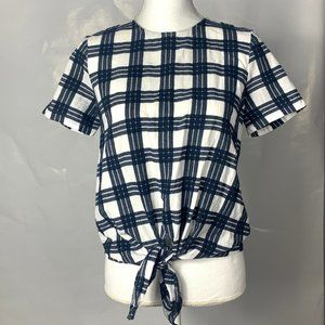 Madewell Front Tie Top Size Small